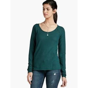 Lucky Brand | Lace Mixed Thermal Top